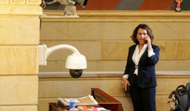 Nancy Patricia Gutiérrez, ministra del Interior, en el Congreso de la República, en Bogotá