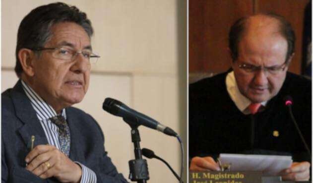 Néstor Humberto Martínez y Leonidas Bustos