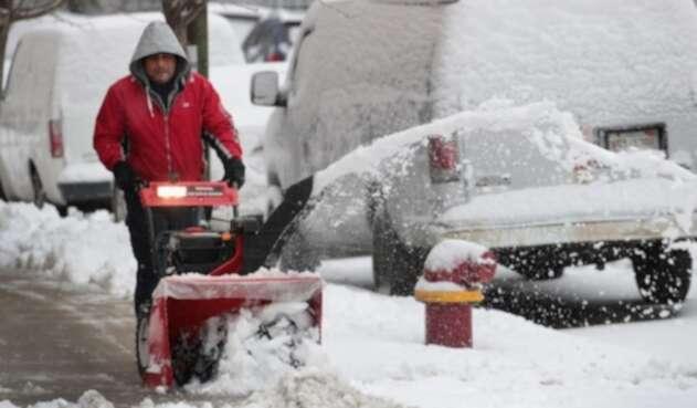 Nieve en Estados Unidos.
