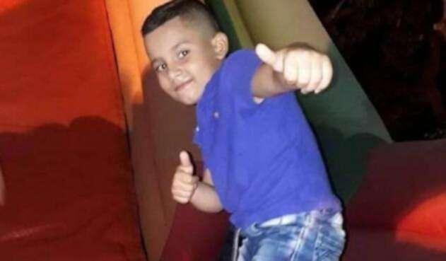 Hans Tafur, niño hallado muerto tras su desaparición, el 22 de diciembre de 2018 en el corregimiento de San Diego, municipio de Samaná, departamento de Caldas