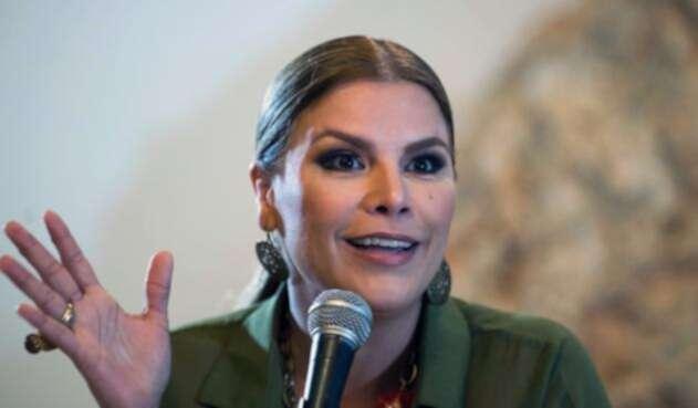 """La cantante Olga Tañón, una puertorriqueña """"orgullosamente venezolana""""."""
