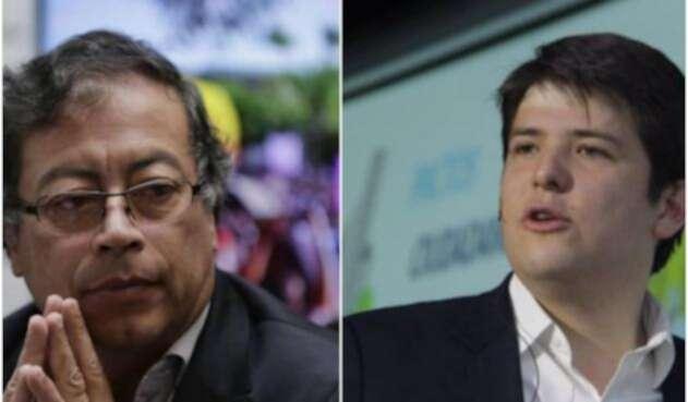 Gustavo Petro y Miguel Uribe