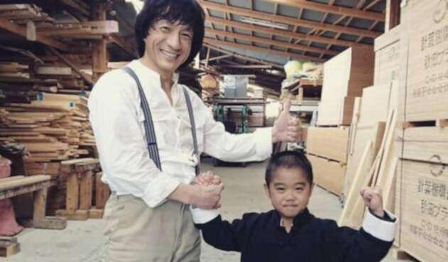 Ryusei Imai y Jackie Chan