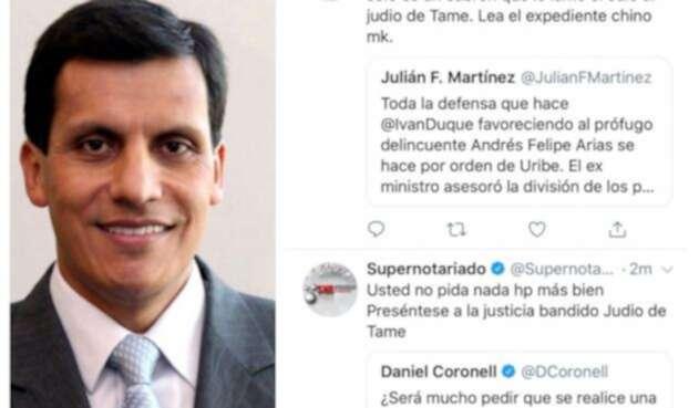 Carlos Alberto García y los trinos que salieron de la cuenta de Supernotariado