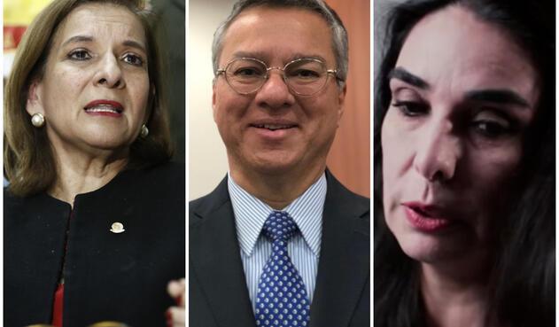 Margarita Cabello, Leonardo Espinosa y Clara María González