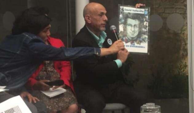 David Vallenilla perdió a su hijo en las marchas en Caracas, Venezuela.