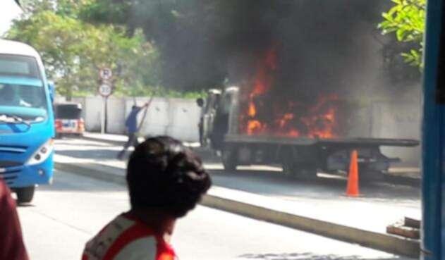 Grua Incendiada Soledad