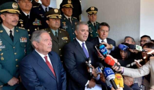 Presidente Duque en ceremonia de ascenso de nueva cúpula militar y de policía