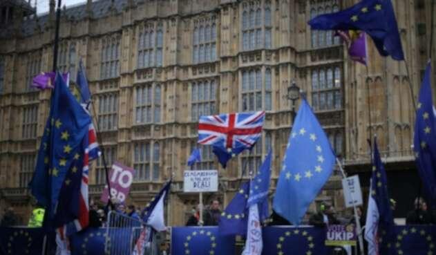 Protestas Parlamento Británico Brexit