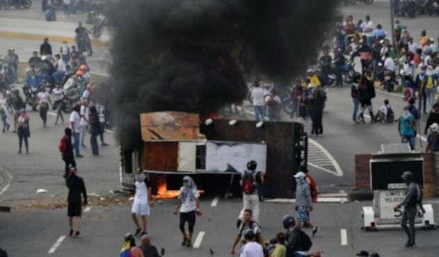Protestas en Venezuela por la situación política