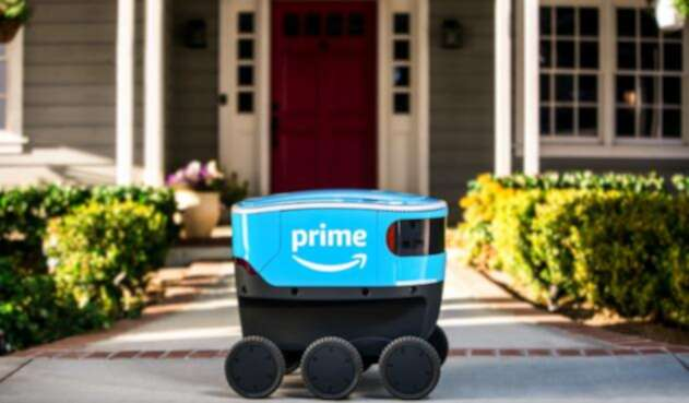 Este es 'Scout' una de las alternativas de Amazon para entregar sus pedidos