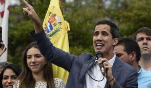 Juan Guaidó en un acto público