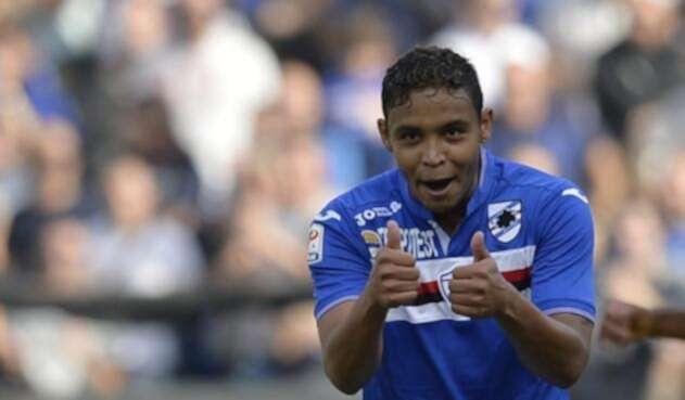 Luis Fernando Muriel en su paso por la Sampdoria