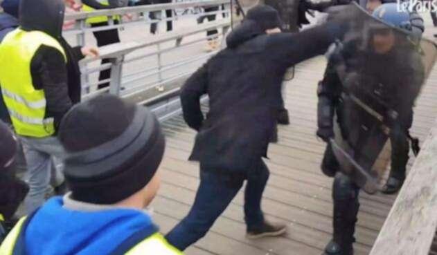 Christophe Dettinger,el exboxeador que golpeó policías de París