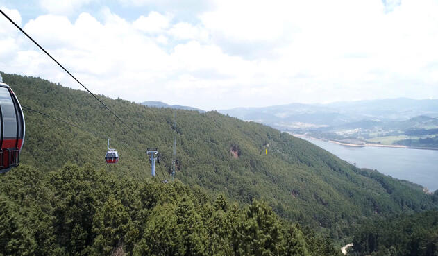 Parque y cable aéreo entre Bogotá y La Calera