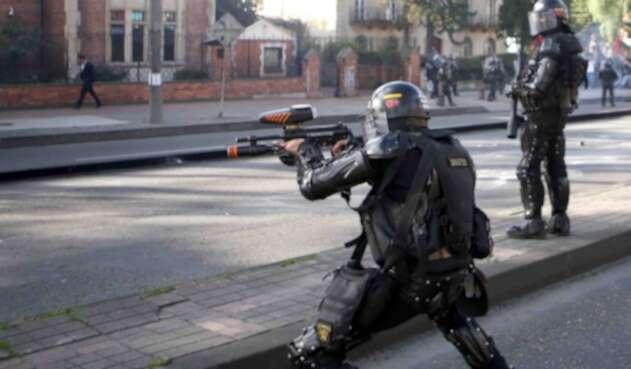 PROTESTAS ESTUDIANTES PARO POLICIA ESMAD