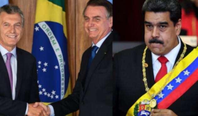Los presidentes de Brasil y Argentina, Jair Bolsonaro y Mauricio Macri arremetieron contra Nicolás Maduro.
