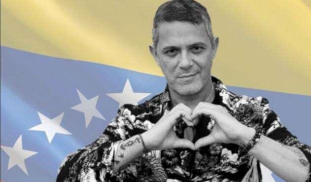 El cantante Alejandro Sanz, un opositor al chavismo.