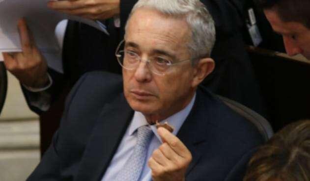 El senador Álvaro Uribe.