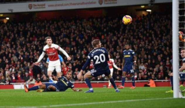Partido entre el Arsenal y el Fulham