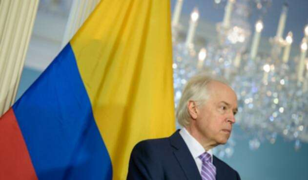 Bernard Aronson, ex delegado especial para el proceso de paz con las Farc, el 20 de febrero de 2015 en Washington (Estados Unidos)
