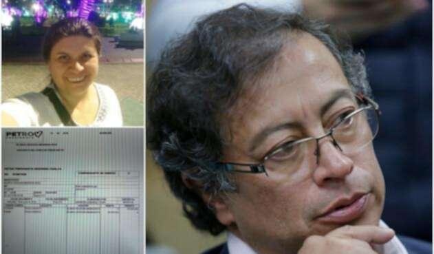 Blanca Durán, exgerente de la campaña de Petro Presidente, el pagaré en cuestión y el senador Gustavo Petro