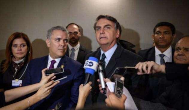 Iván Duque y Jair Bolsonaro