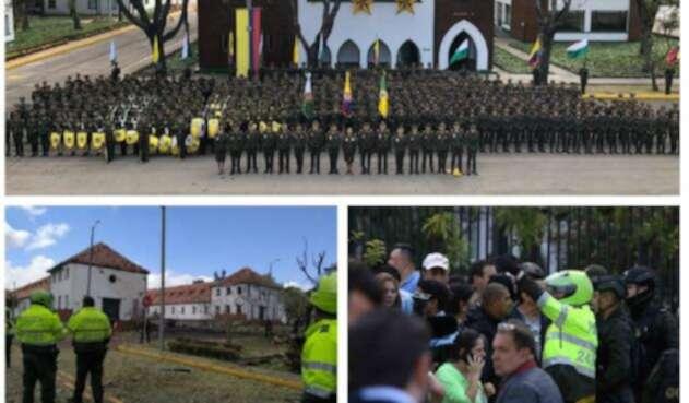 Atentado con carro bomba en Escuela de Cadetes en Bogotá