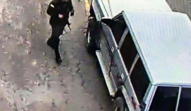 Camioneta del atentado contra la General Santander