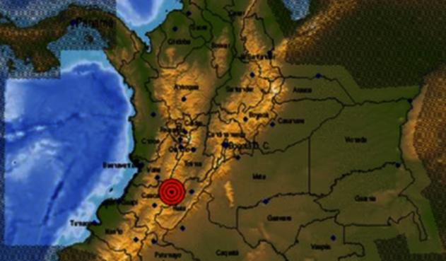 Epicentro temblor en Colombia sábado 26 de enero de 2019