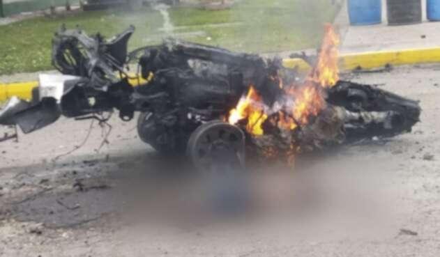 Lamentable atentado con carro bomba en la escuela General Santander de la Policía