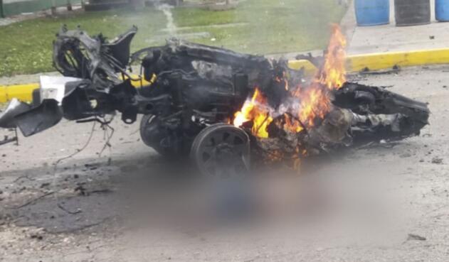 Carro bomba en Escuela general Santander de la Policía