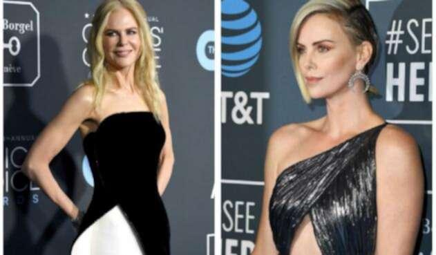 Nicole Kidman y Charlize Theron en los Critics' Choice Awards 2019.