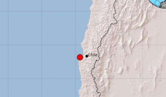 Zona afectada por el sismo en Chile