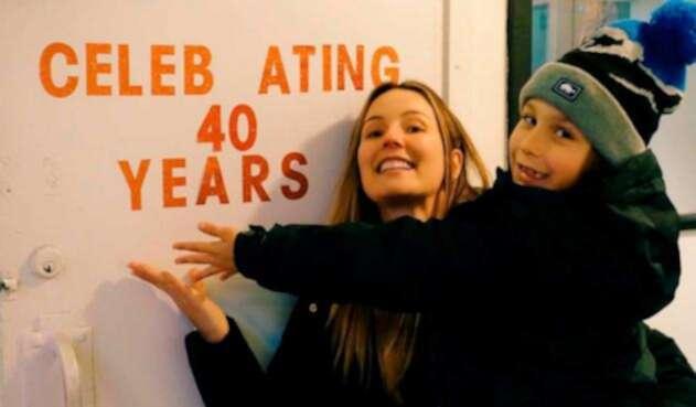 Claudia Bahamon celebra su cumpleaños número 40