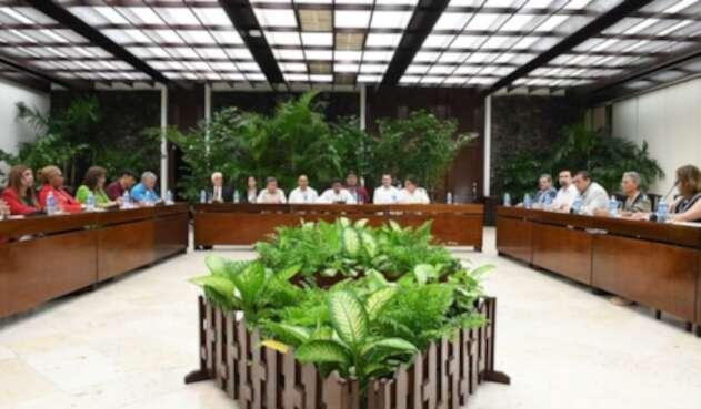 Instalación de la mesa de paz Gobierno-ELN en La Habana (Cuba)