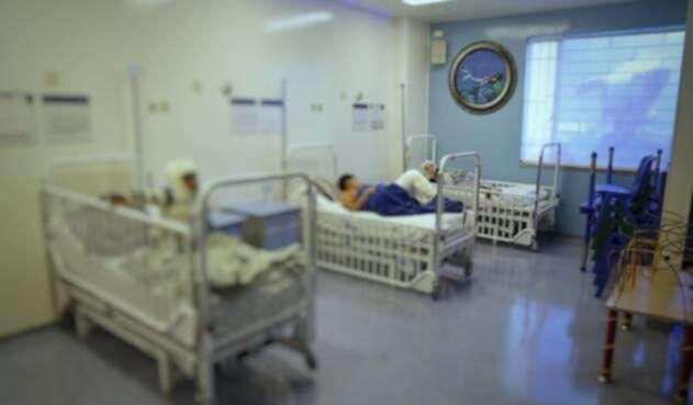 Zona de pacientes quemados con pólvora