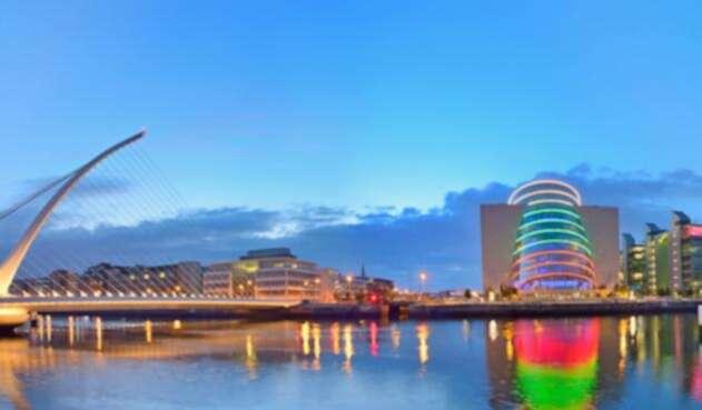 El puente Samuel Beckett de Dublin, capital de Irlanda