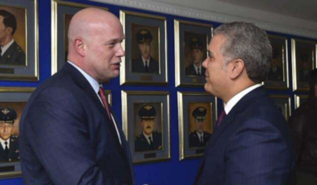 Iván Duque y Matthew Whitaker