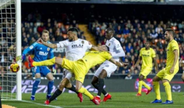 Partido entre Valencia y Sevilla por la Liga española
