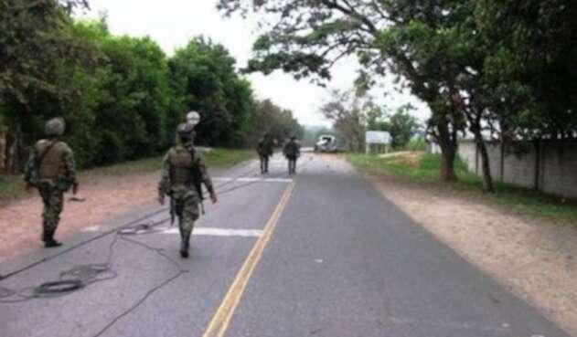 Ejército retoma el control en zona rural de Corinto donde se enfrentaban grupos criminales