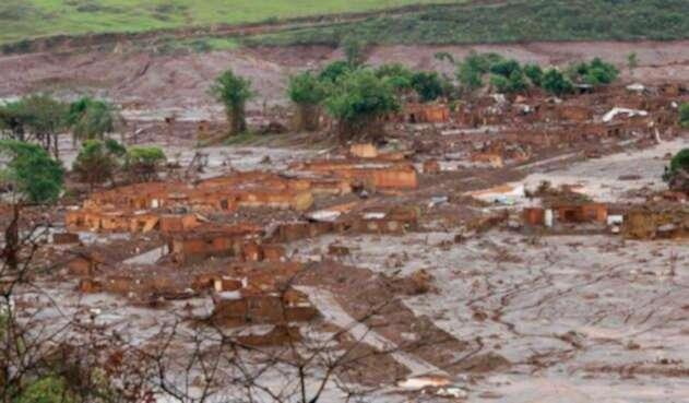 Ruptura de dique en Brasil