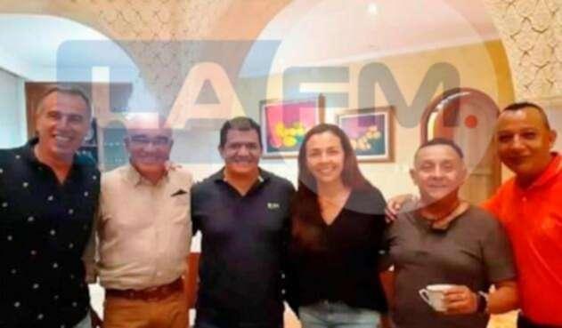 Habib Merheg, en reunión con varios políticos en Colombia