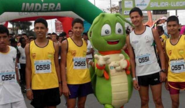 Hallam Bayona en una competencia con la liga de atletismo del Tolima