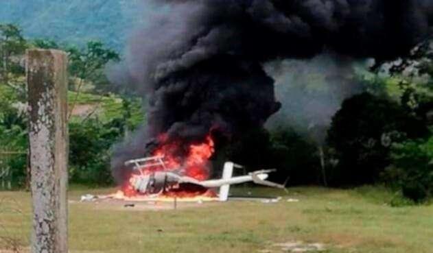 El helicóptero derribado en el Catatumbo