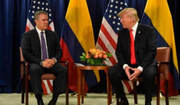 Iván Duque y Trump