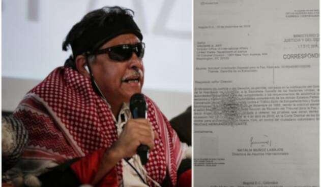 Jesús Santrich y la carta que no llegó a su destino en Estados Unidos