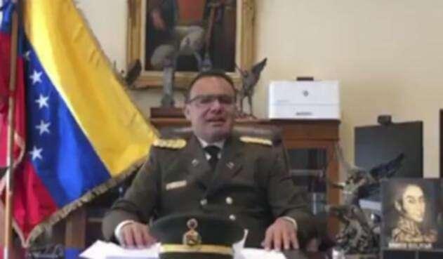 El coronel José Luis Silva Silva, agregado militar de la embajada de Venezuela en EE.UU.
