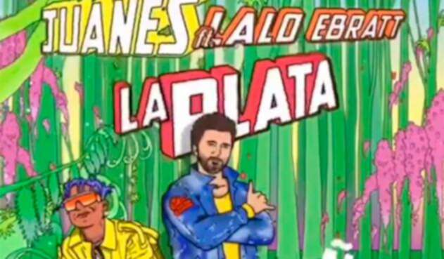 "Lalo Ebratt y Juanes en la imagen promocional de ""La Plata"""