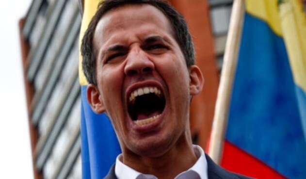 Juan Guaidó una vez se autoproclamó presidente de Venezuela